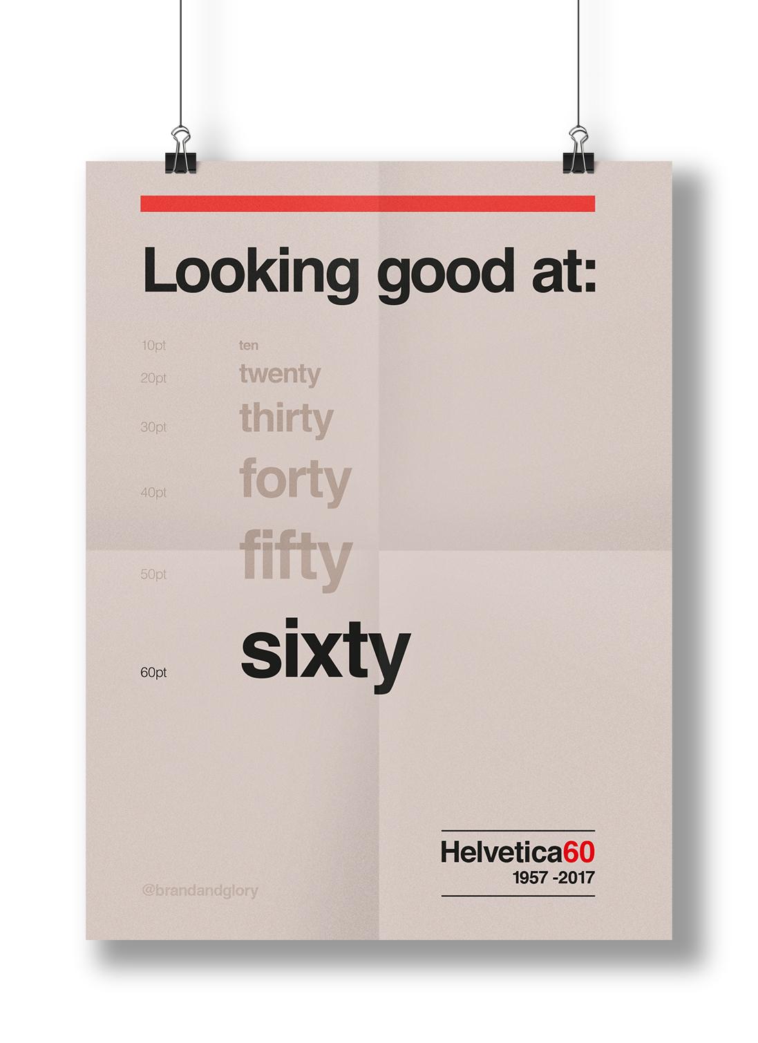 Helvetica is 60